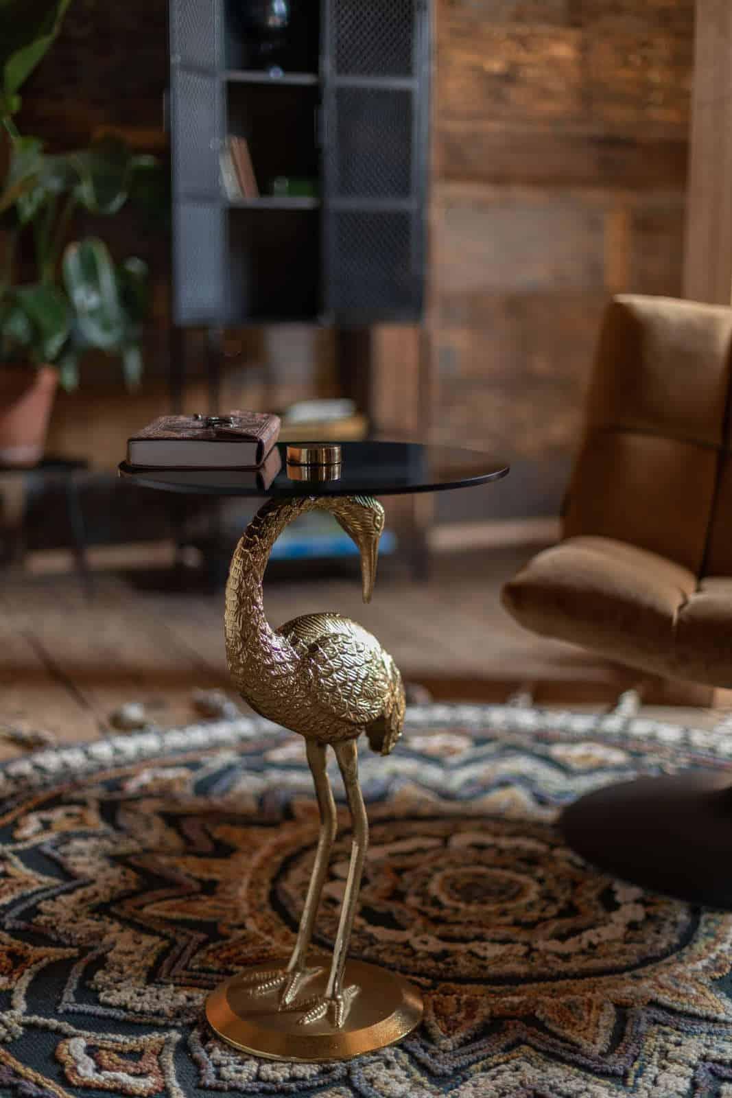 Stolik kawowy Crane gold