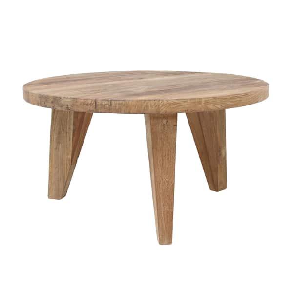 Stolik kawowy S z drewna tekowego