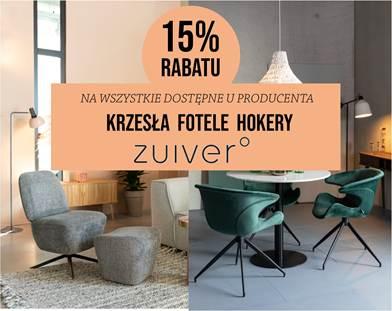 Promocja na krzesła firmy ZUIVER