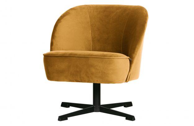 Obrotowy Fotel Vogue Aksamit Musztardowy1