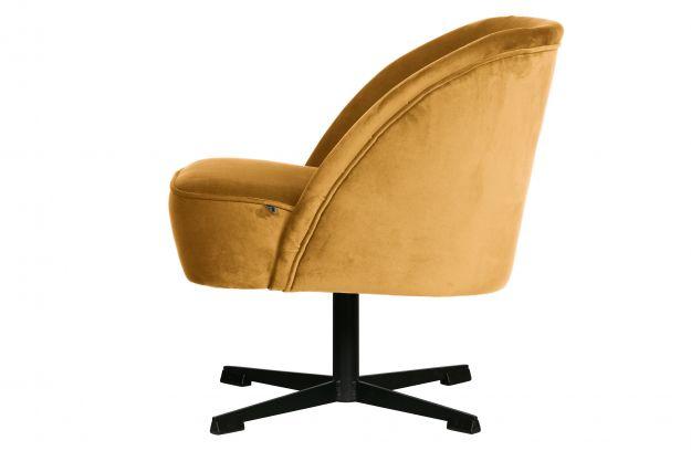 Obrotowy Fotel Vogue Aksamit Musztardowy2