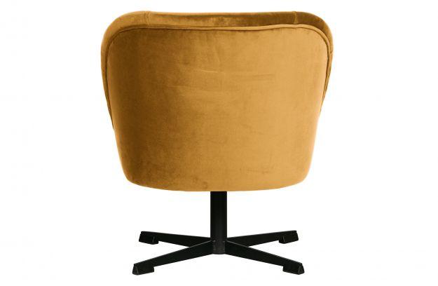 Obrotowy Fotel Vogue Aksamit Musztardowy3