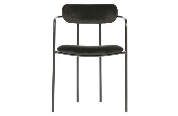Krzeslo Do Jadalni Ivy Aksamit Czarny