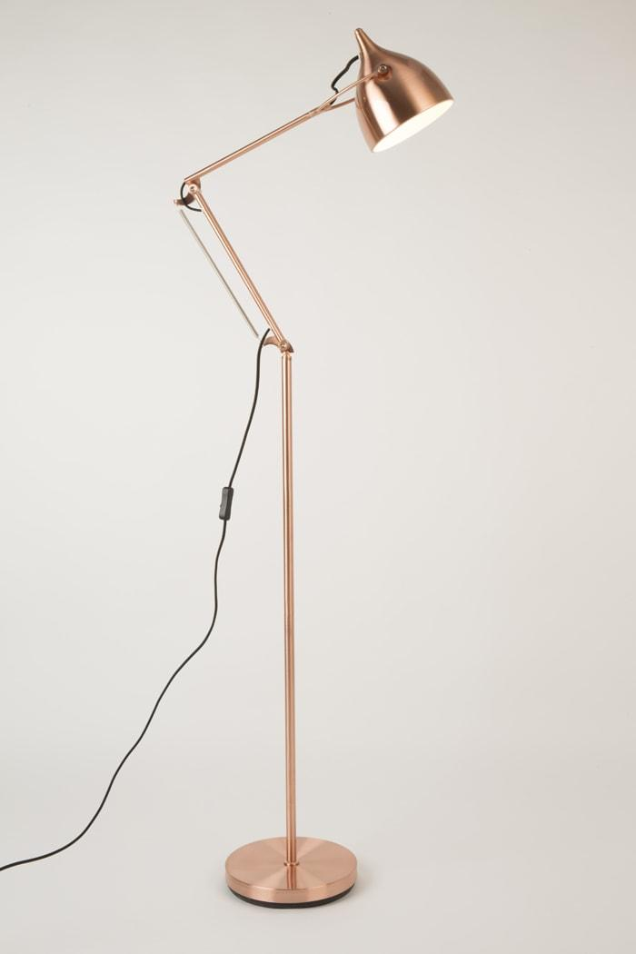 Reader Copper Floorlamp On