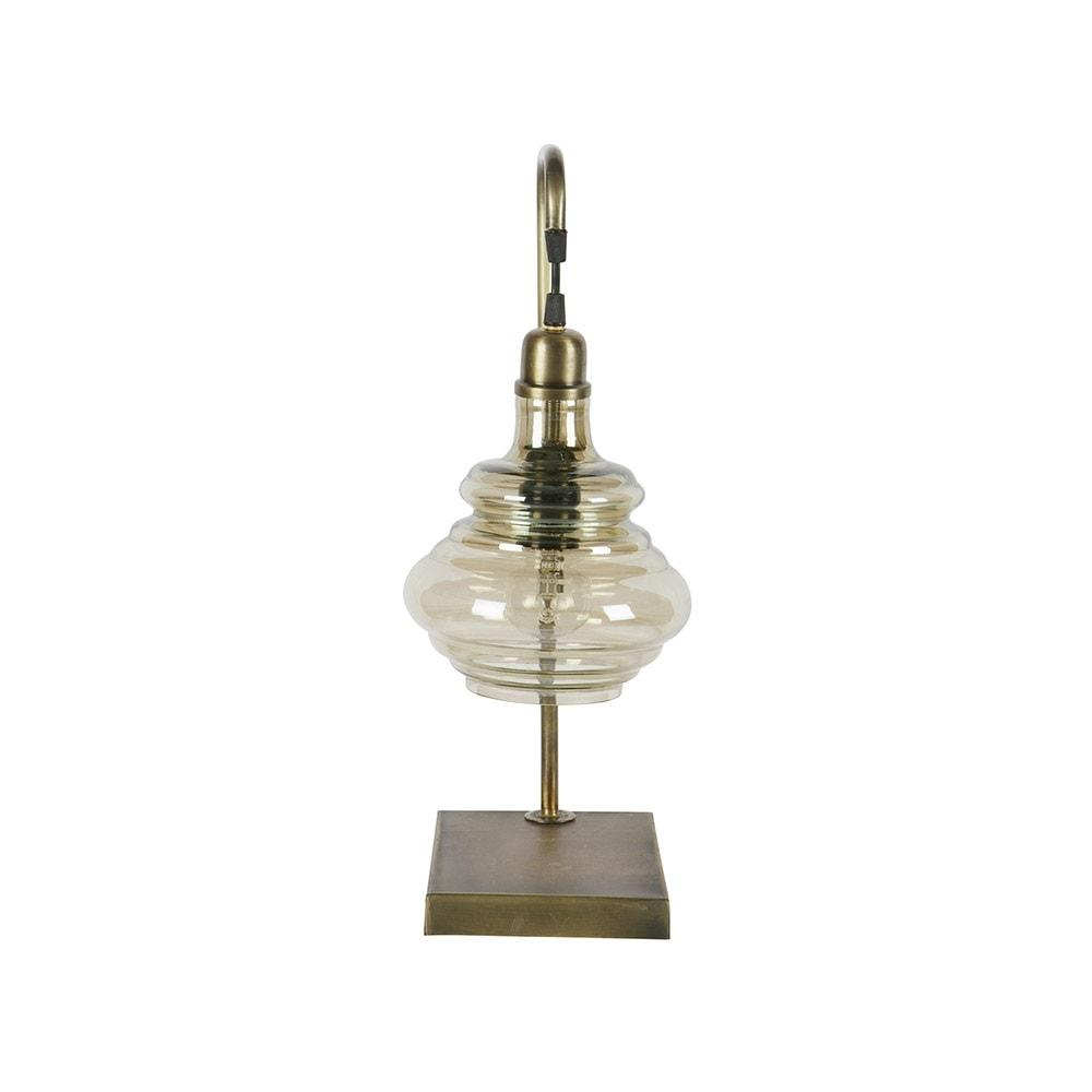 Small Obvious Lamp With Glass Lampshade