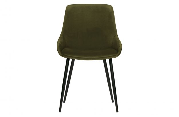 Krzeslo Do Jadalni Selin Aksamit Lesny Zielony