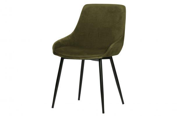 Krzeslo Do Jadalni Selin Aksamit Lesny Zielony 2