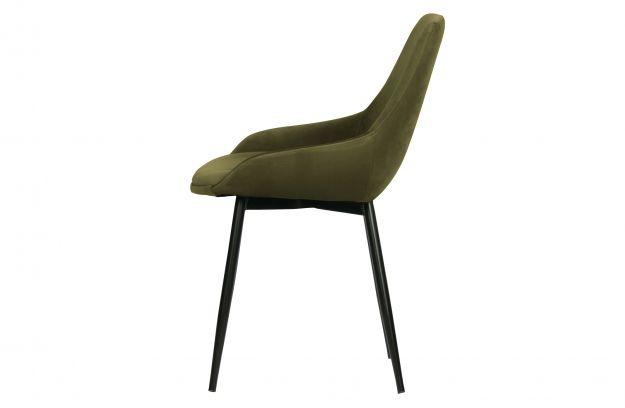 Krzeslo Do Jadalni Selin Aksamit Lesny Zielony 3
