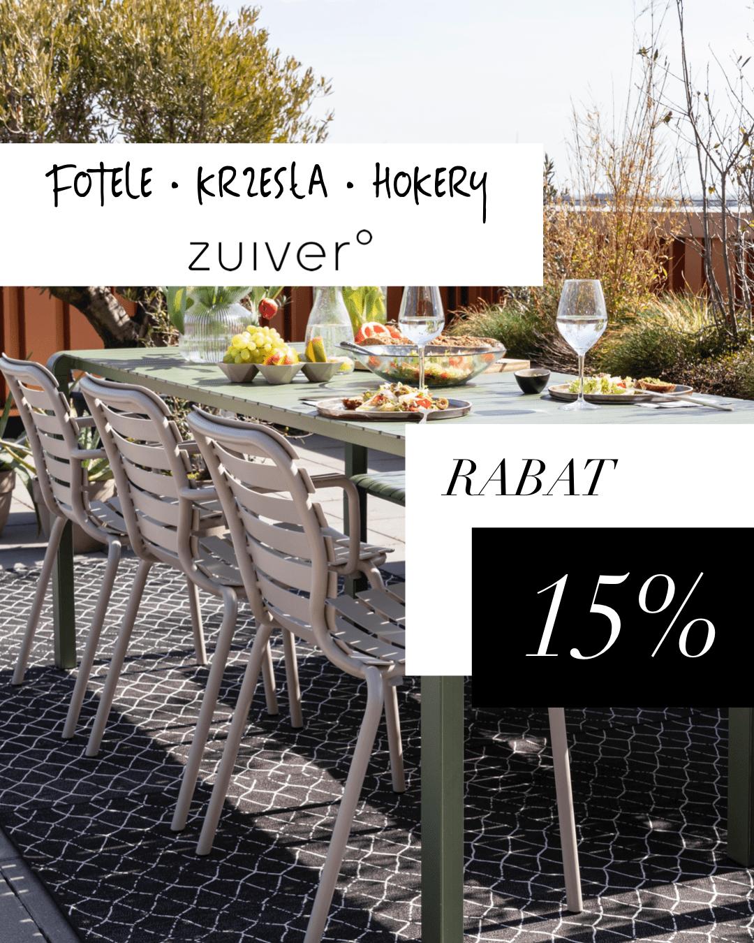Fotele, krzesła, hokery   firmy Zuiver - rabat 15 %