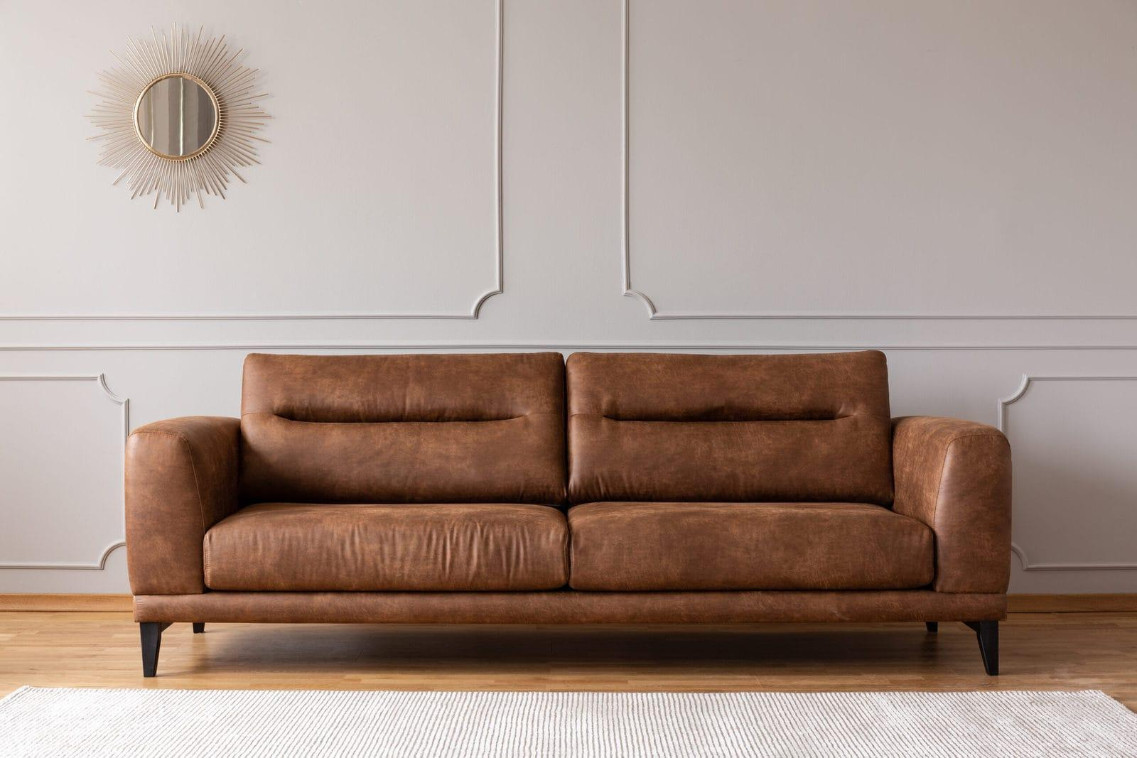 A Leather Sofa In An Elegant Living Room (2)