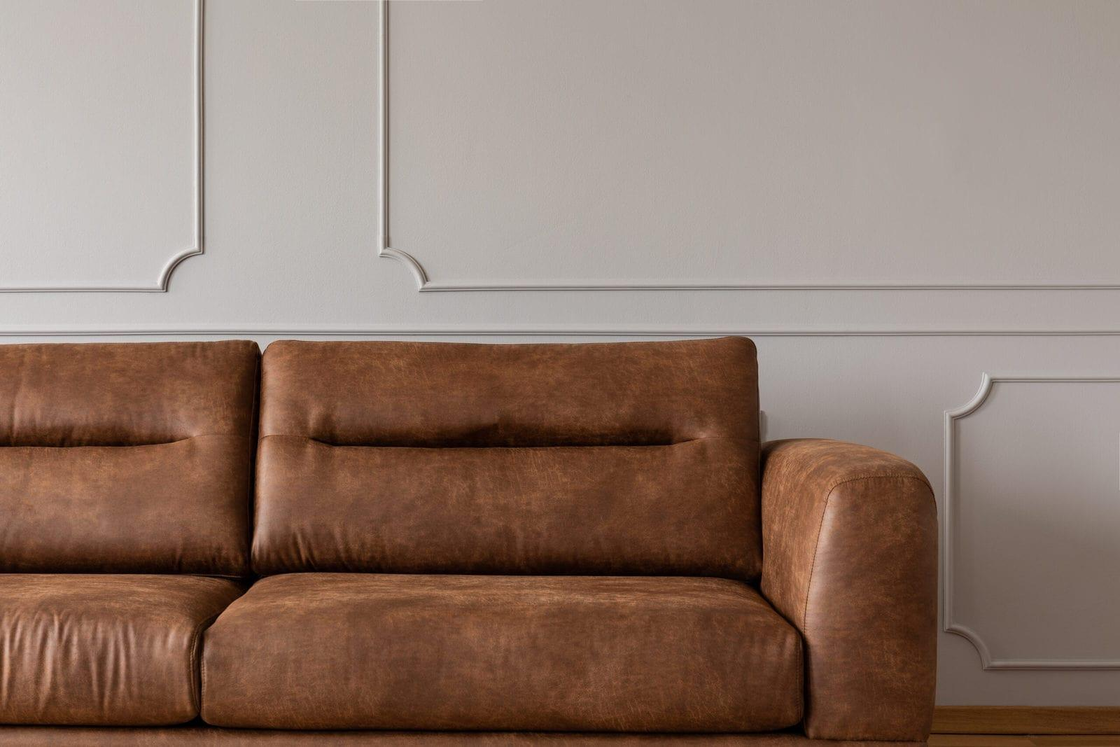 A Leather Sofa In An Elegant Living Room (3)