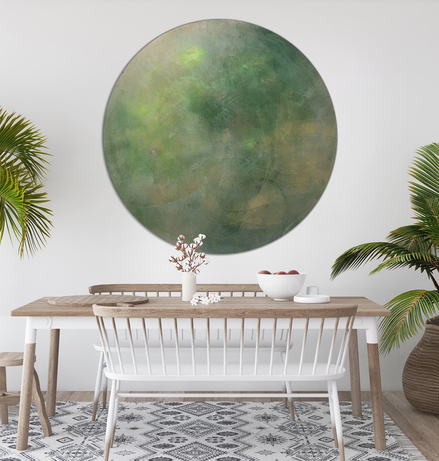 Mock Up Poster In Tropical Living Room Background, Scandi Boho S