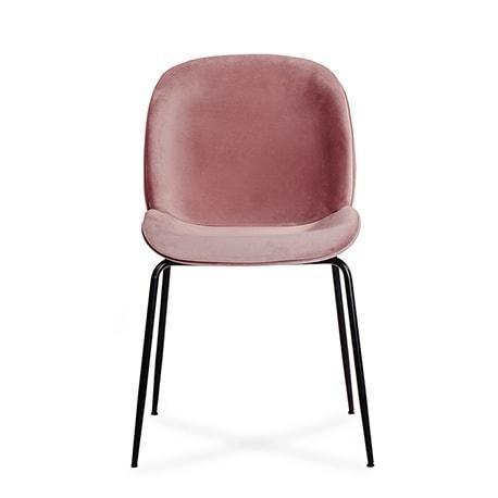 Krzeslo Boliwia Rozowe Siedzisko Czarne Nogi Komplet Pl 2 (1)