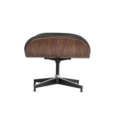 Podnozek Tokyo Pufa Wroclaw Designerski Eames Design Inspirowane Czarna Skóra Jasny Orzech 2 (2)