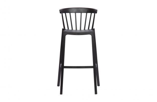 plastikowy stolek barowy bliss czarny