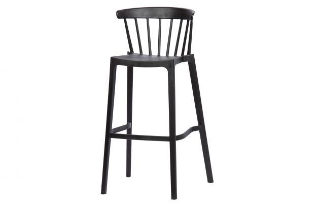 plastikowy stolek barowy bliss czarny 2