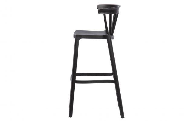 plastikowy stolek barowy bliss czarny 3