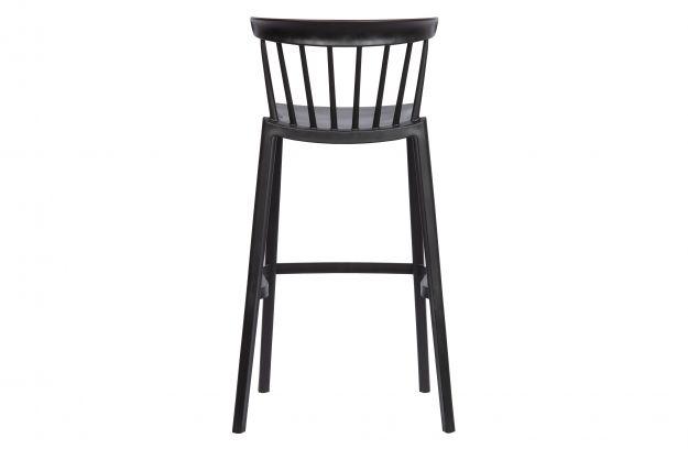 plastikowy stolek barowy bliss czarny 4