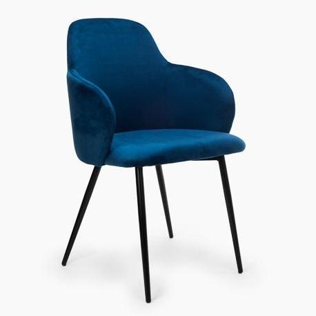 krzeslo madryt granatowe siedziskoczarna podstawa komplet